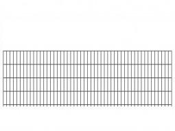 "Doppelstab-Gittermatte ""schwer"" 8/6/8 anthrazit H 830 mm"