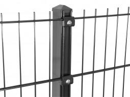 """Gitterpfosten Typ """"K"""" anthrazit für Zaunhöhe 630 mm"""