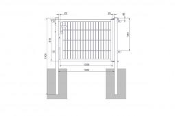 "Universaltor ""medium"" 1-flg. anthrazit H 800 x B 1090 mm"