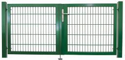 """Universaltor """"schwer"""" 2-flg. symmetrisch grün H 1000 x B 2155 mm"""