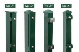"""Zaunpaket DSM 6/5/6 """"leicht"""" grün 10 m zum Einbetonieren mit Deckleiste (D) kein Eckpfosten 630 mm Höhe"""