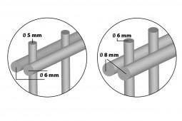 """Zaunpaket DSM 8/6/8 """"schwer"""" anthrazit 17,5 m zum Einbetonieren mit Deckleiste (D) ein Eckpfosten 1830 mm Höhe"""