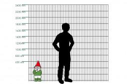 """Zaunpaket DSM 8/6/8 """"schwer"""" grün 10 m zum Einbetonieren mit Deckleiste (D) kein Eckpfosten 630 mm Höhe"""