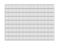 """Doppelstab-Gittermatte """"leicht"""" 6/5/6 anthrazit H 1830 mm"""