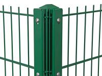 """Eck-Gitterpfosten Typ """"D"""" grün für Zaunhöhe 1830 mm"""