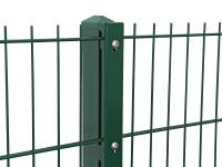 """Gitterpfosten Typ """"D"""" grün für Zaunhöhe 1430 mm"""