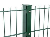 """Gitterpfosten Typ """"F"""" grün für Zaunhöhe 1230 mm"""