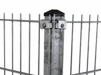 """Eck-Gitterpfosten Typ """"K"""" feuerverzinkt für Zaunhöhe 1830 mm"""