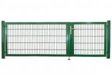 """Universaltor """"schwer"""" 2-flg. asymmetrisch grün H 1400 x B 2805 mm"""