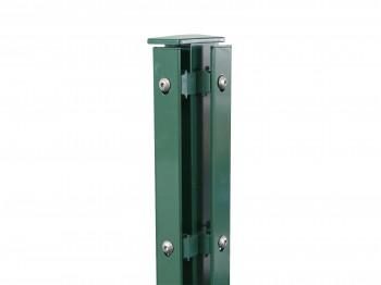 """Eck-Gitterpfosten Typ """"F"""" grün für Zaunhöhe 830 mm"""