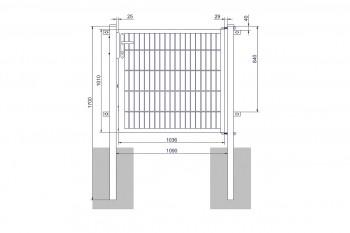 "Universaltor ""medium"" 1-flg. anthrazit H 1000 x B 1090 mm"