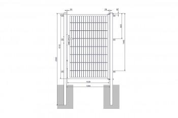 "Universaltor ""medium"" 1-flg. anthrazit H 1600 x B 1090 mm"