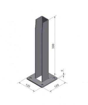 Bodenplatte 120 x 120 mm grün bis Zaunhöhe 1680 mm