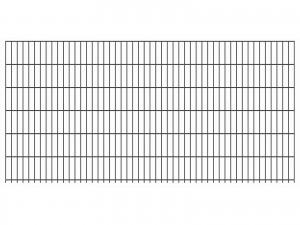 """Doppelstab-Gittermatte """"leicht"""" 6/5/6 anthrazit H 1230 mm"""