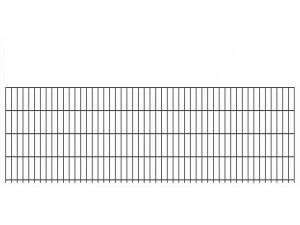 """Doppelstab-Gittermatte """"leicht"""" 6/5/6 anthrazit H 830 mm"""