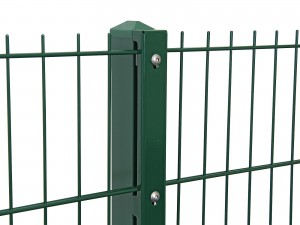 """Gitterpfosten Typ """"D"""" grün für Zaunhöhe 830 mm"""