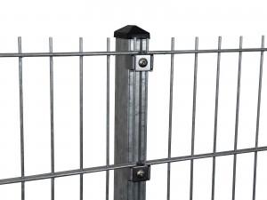 """Gitterpfosten Typ """"P"""" feuerverzinkt für Zaunhöhe 1030 mm"""