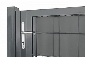 """Sichtschutz-Befestigungssatz für Universaltor """"schwer"""" 1-flg. anthrazit H 1400 mm"""
