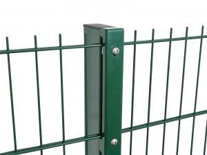 """Sichtschutzpfosten Typ """"D"""" grün für Zaunhöhe 2030 mm"""