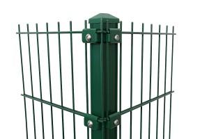 """Eck-Gitterpfosten Typ """"K"""" grün für Zaunhöhe 2430 mm"""