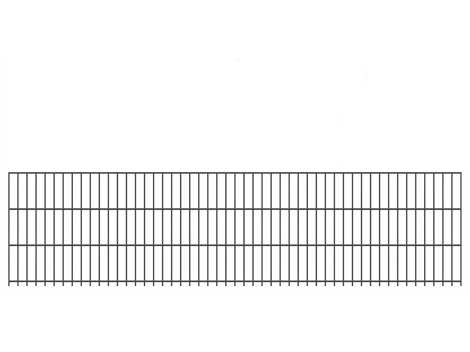 """Doppelstab-Gittermatte """"leicht"""" 6/5/6 anthrazit H 630 mm"""