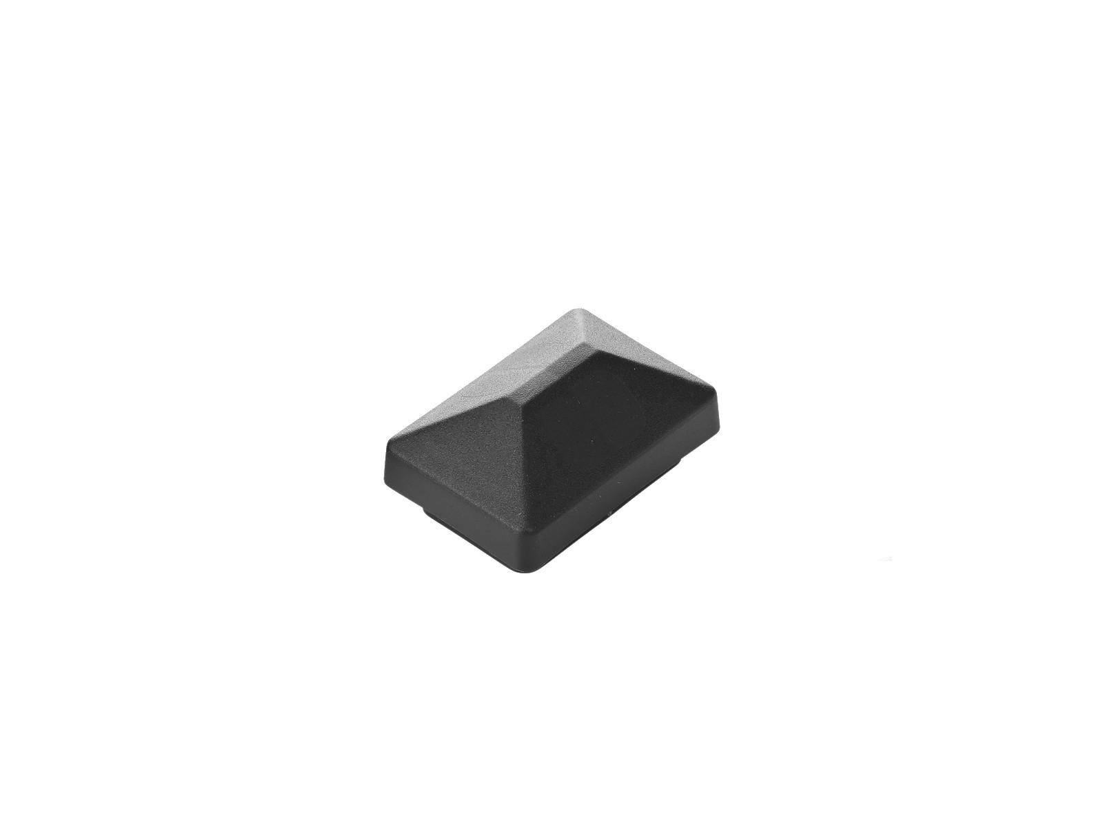 Abdeckkappe 60 x 40 mm schwarz